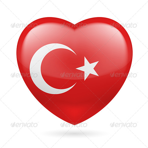 Heart Icon of Turkey - Miscellaneous Vectors