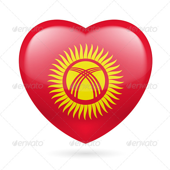Heart Icon of Kyrgyzstan - Miscellaneous Vectors