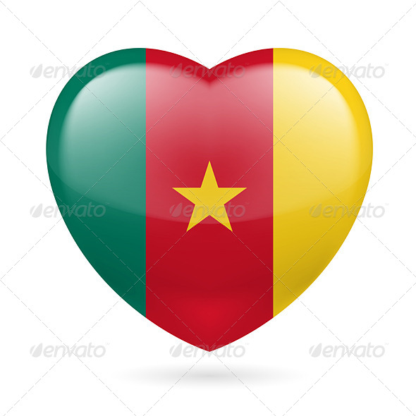 Heart Icon of Cameroon - Miscellaneous Vectors