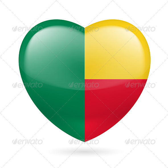 Heart Icon of Benin - Miscellaneous Vectors