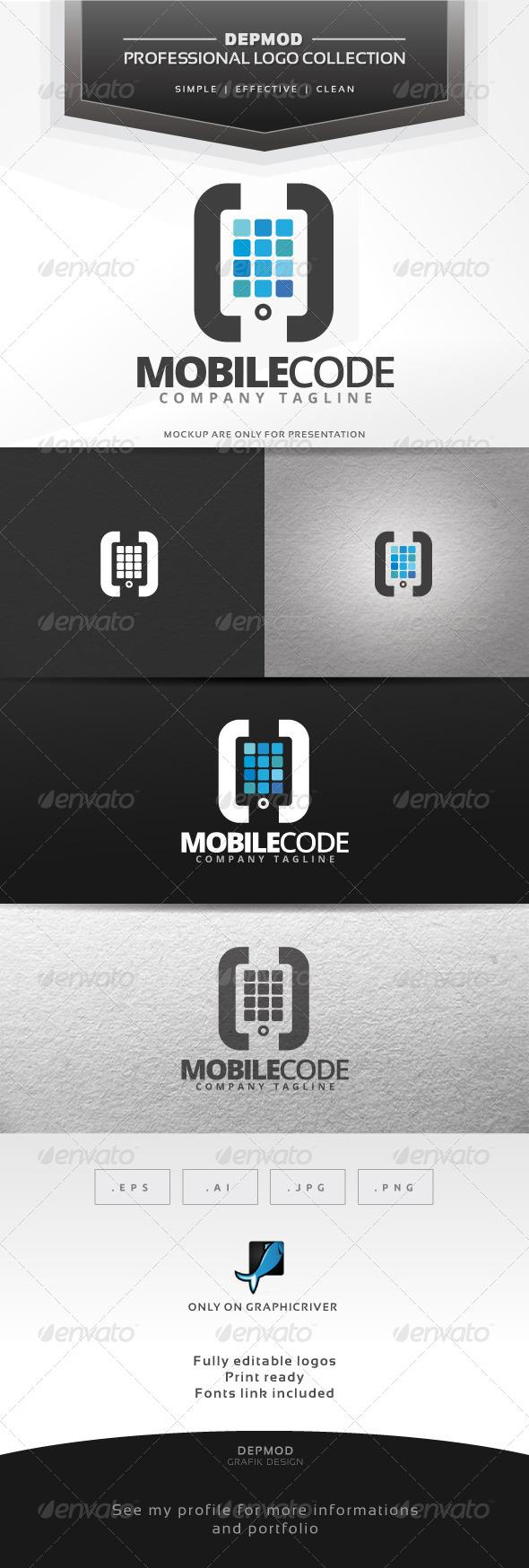 Mobile Code Logo - Symbols Logo Templates