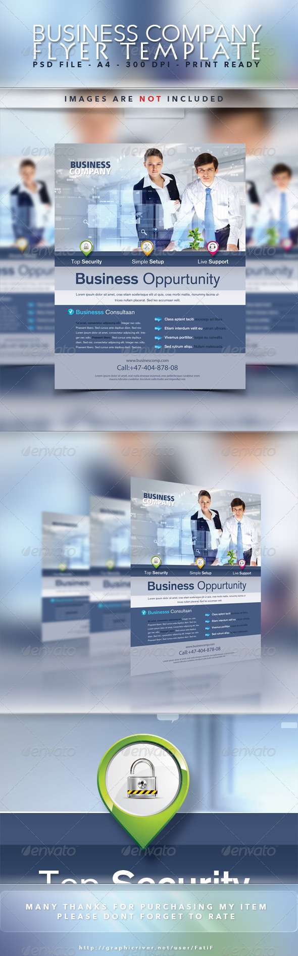 Business Company Flyer Template - Corporate Flyers