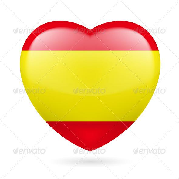 Heart Icon of Spain - Miscellaneous Vectors