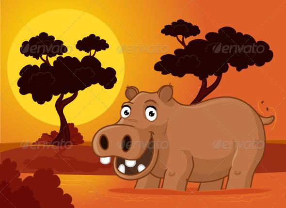 Hippopotamus - Animals Characters