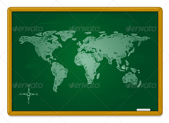 World Map - Objects Vectors
