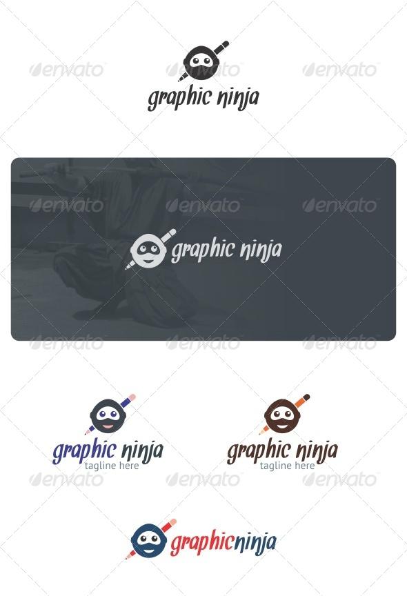 Graphic Ninja Logo - Humans Logo Templates