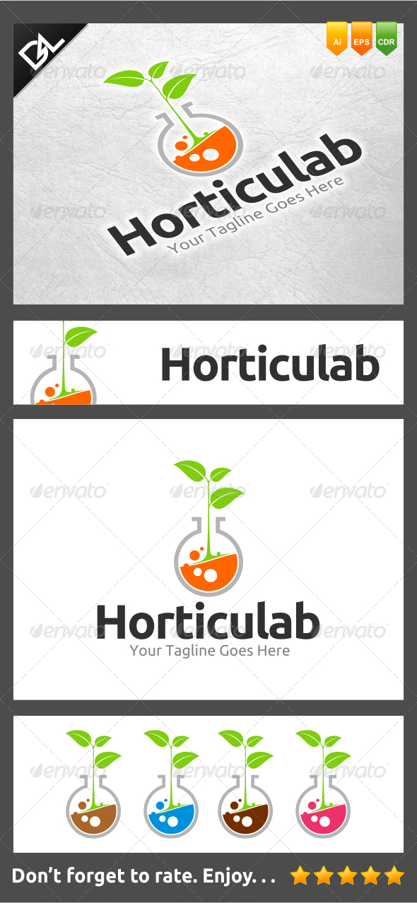 Horticulab - Nature Logo Templates