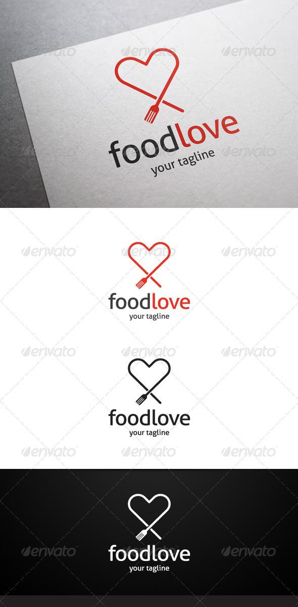 Food Love Logo - Food Logo Templates