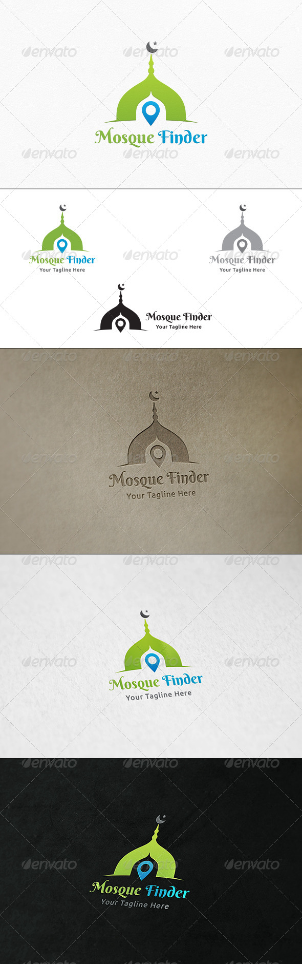 Mosque Finder - Logo Template - Buildings Logo Templates