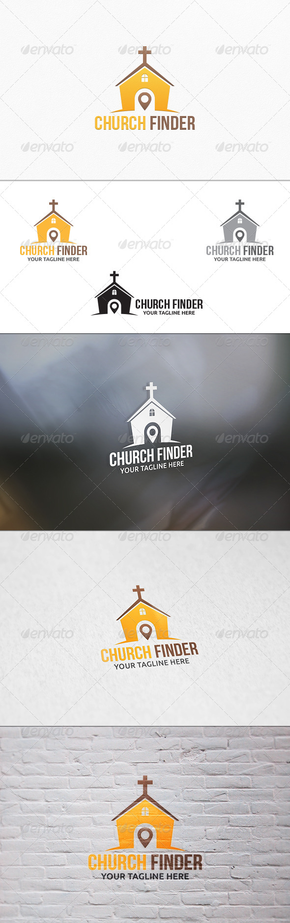 Church Finder V2 - Logo Template - Buildings Logo Templates