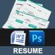 3-Piece Creative Resume Set - GraphicRiver Item for Sale