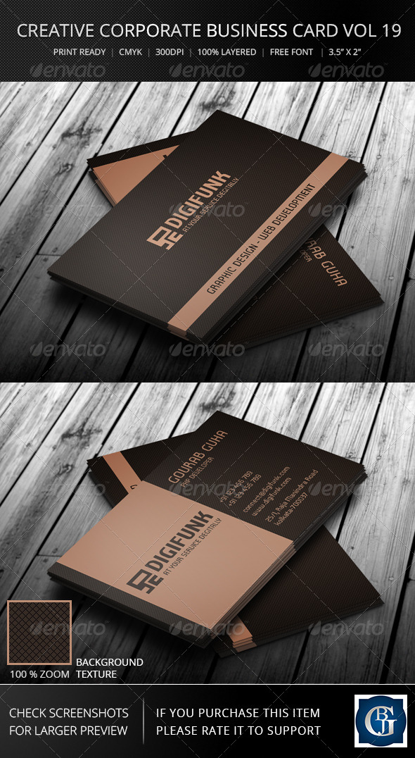 Corporate Business Card Vol 19 - Corporate Business Cards