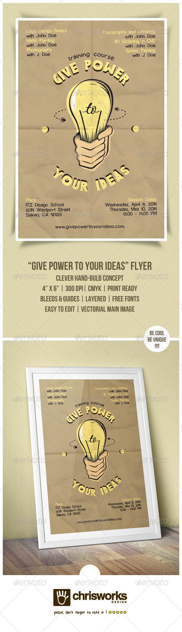 Give Power To Your Ideas Flyer - Miscellaneous Events