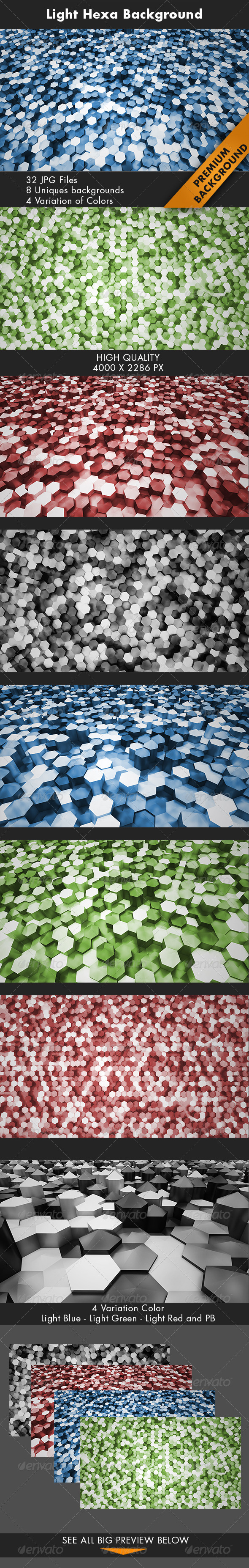 Light Hexa Background - 3D Backgrounds