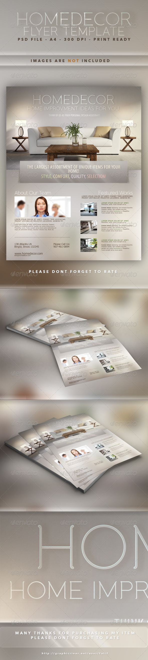 Home Decor Flyer Template - Corporate Flyers