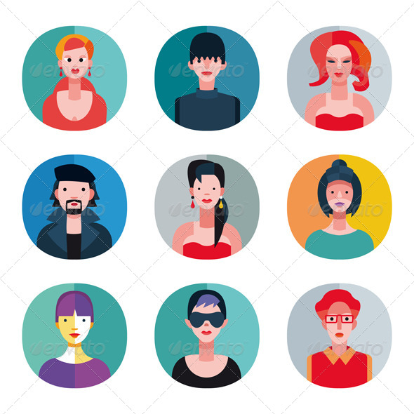 Flat Avatar Collection - Characters Vectors