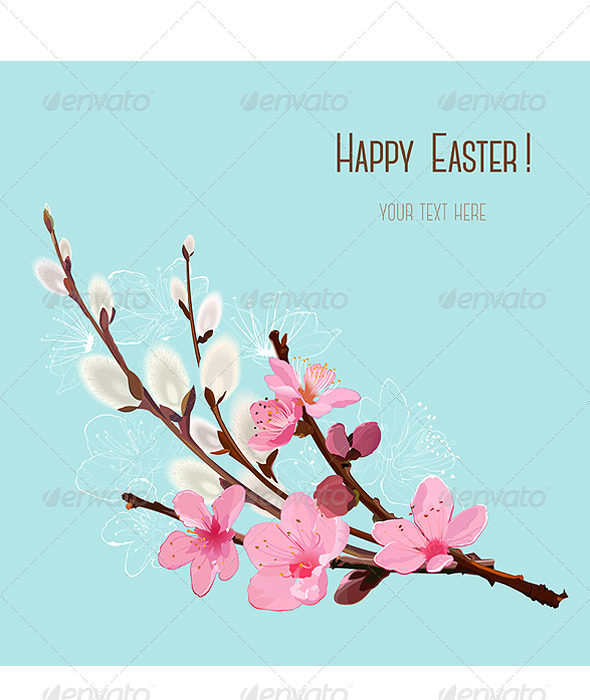 Happy Easter Card - Vectors