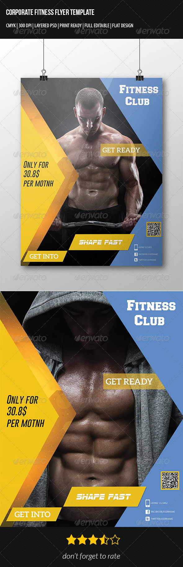 Corporate Fitness Flyer Template - Corporate Flyers