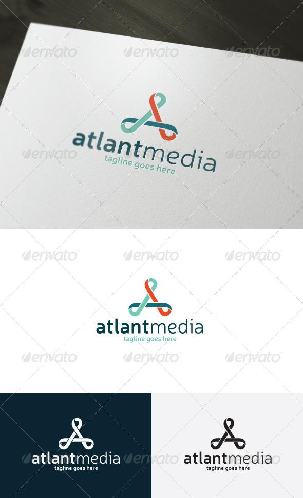 Atlant Media Logo — Letter A - Letters Logo Templates