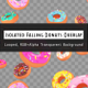 Isolated Falling Donuts Overlay - VideoHive Item for Sale