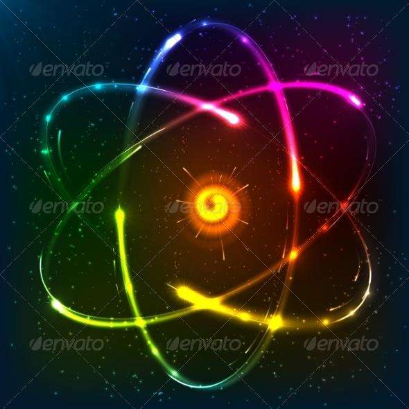 Neon Atom - Health/Medicine Conceptual