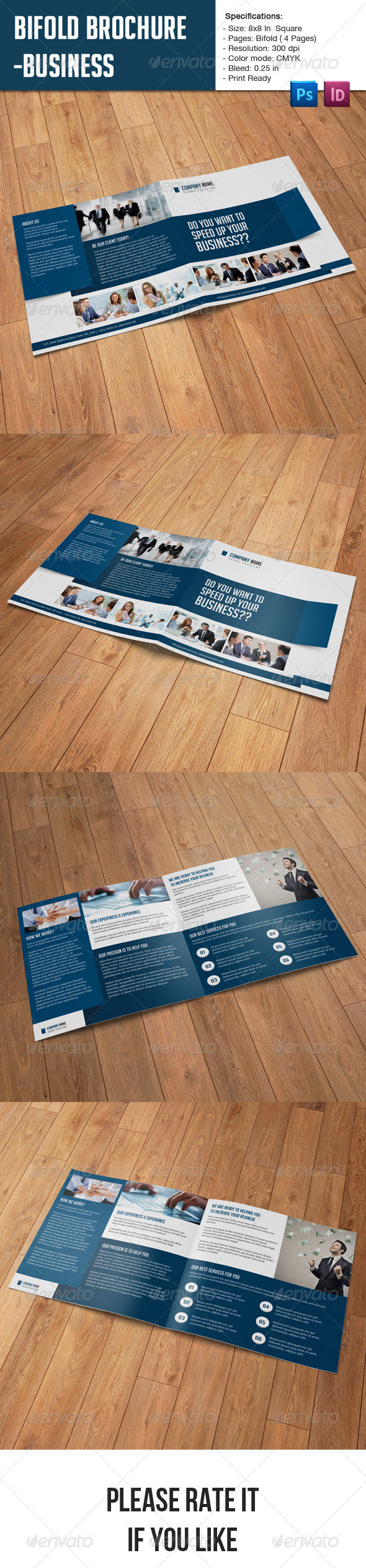 Square Bifold Business Brochure - Corporate Brochures