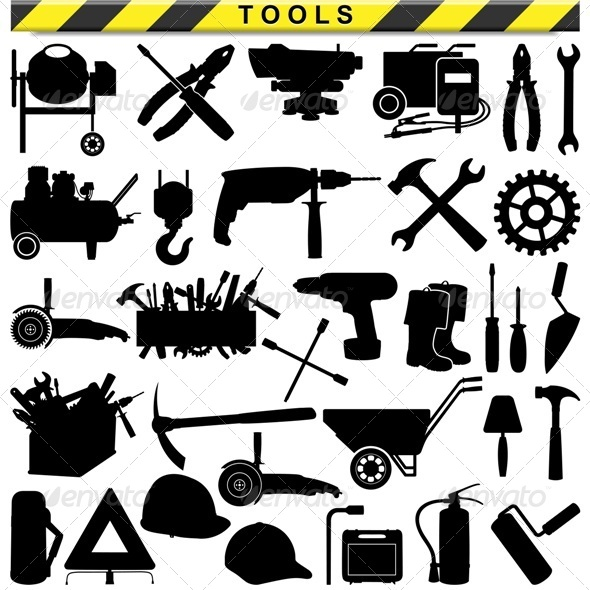 Vector Tool Pictograms - Industries Business