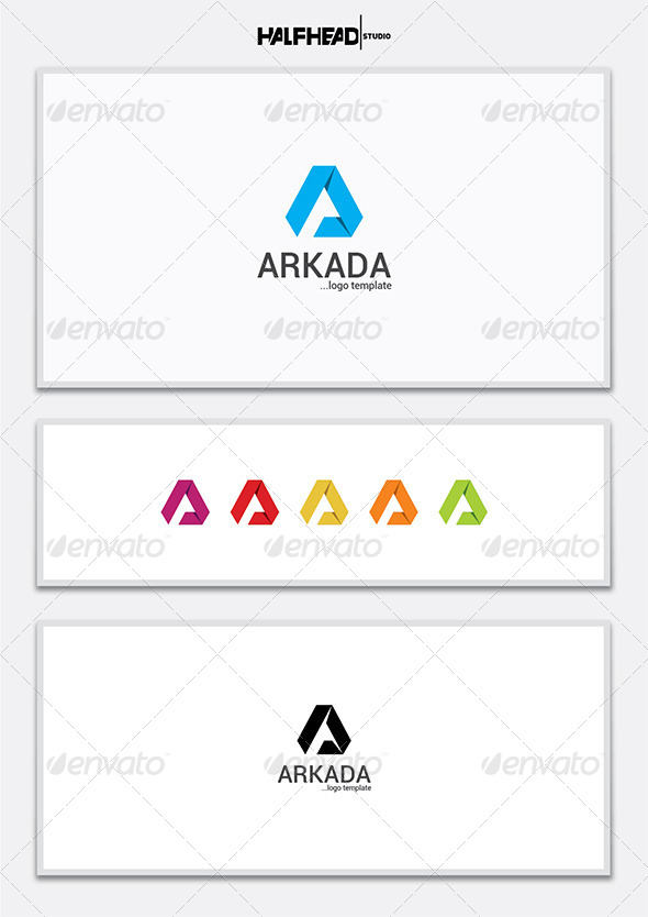 Arkada Logo Template - Letters Logo Templates