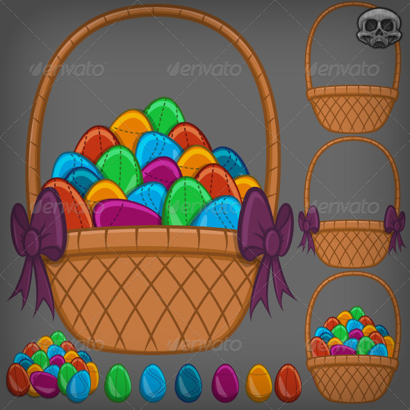 Easter Egg Basket - Man-made Objects Objects