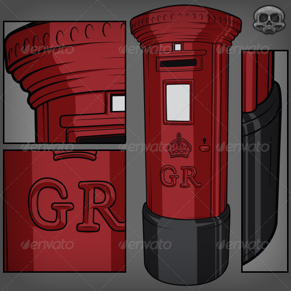 British Postbox - Man-made Objects Objects