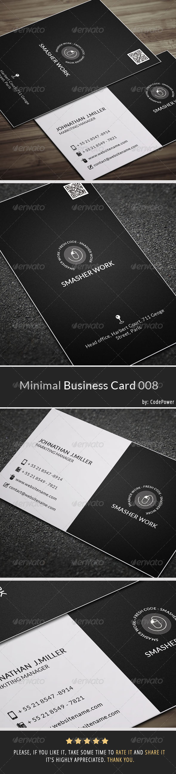 Minimal Business Card 008 - Corporate Business Cards