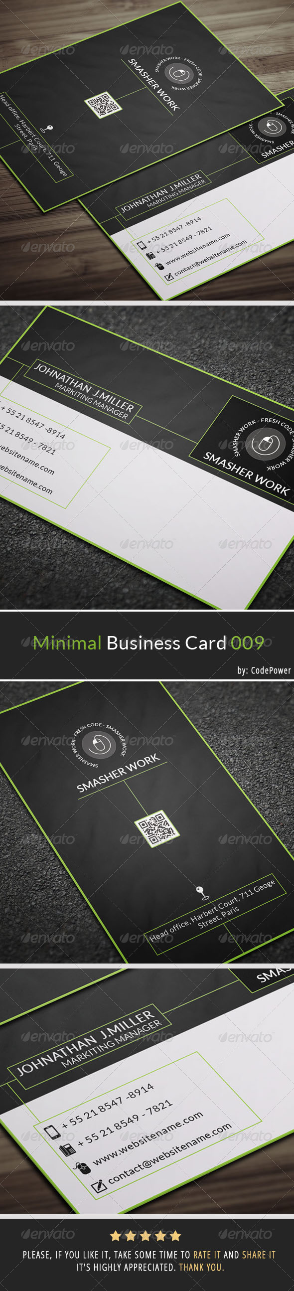 Minimal Business Card 009 - Corporate Business Cards