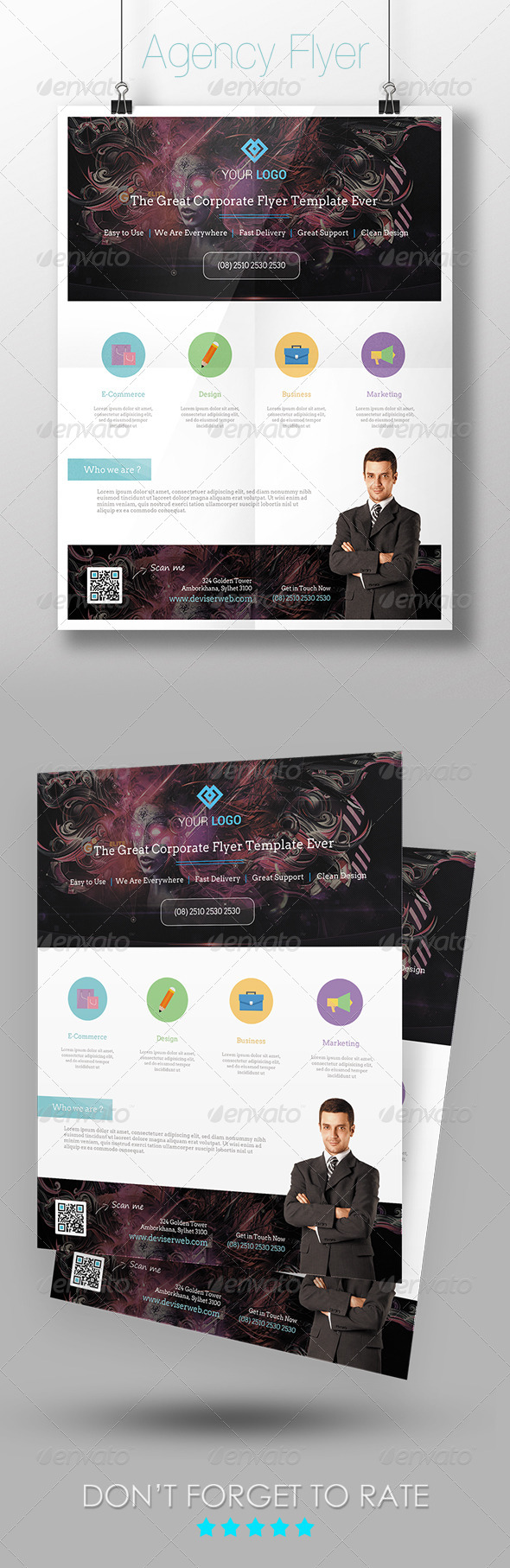 Corporate Agency Flyer Template - Corporate Flyers