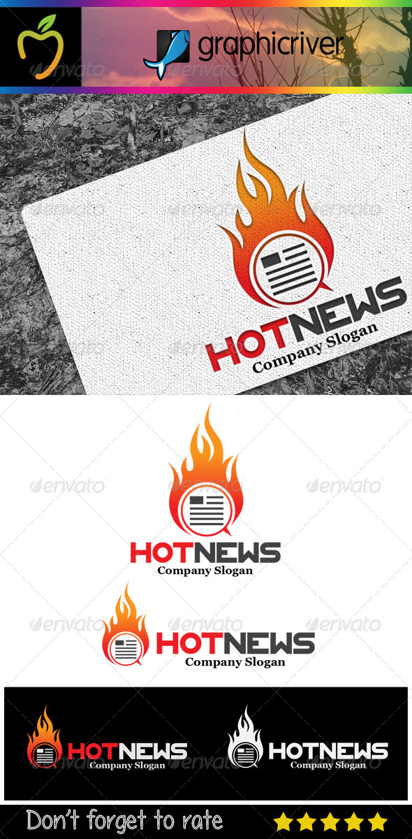 Hot News Logo - Symbols Logo Templates