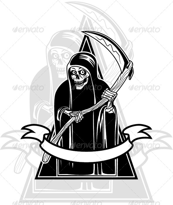 Grim Reaper Badge - Miscellaneous Characters
