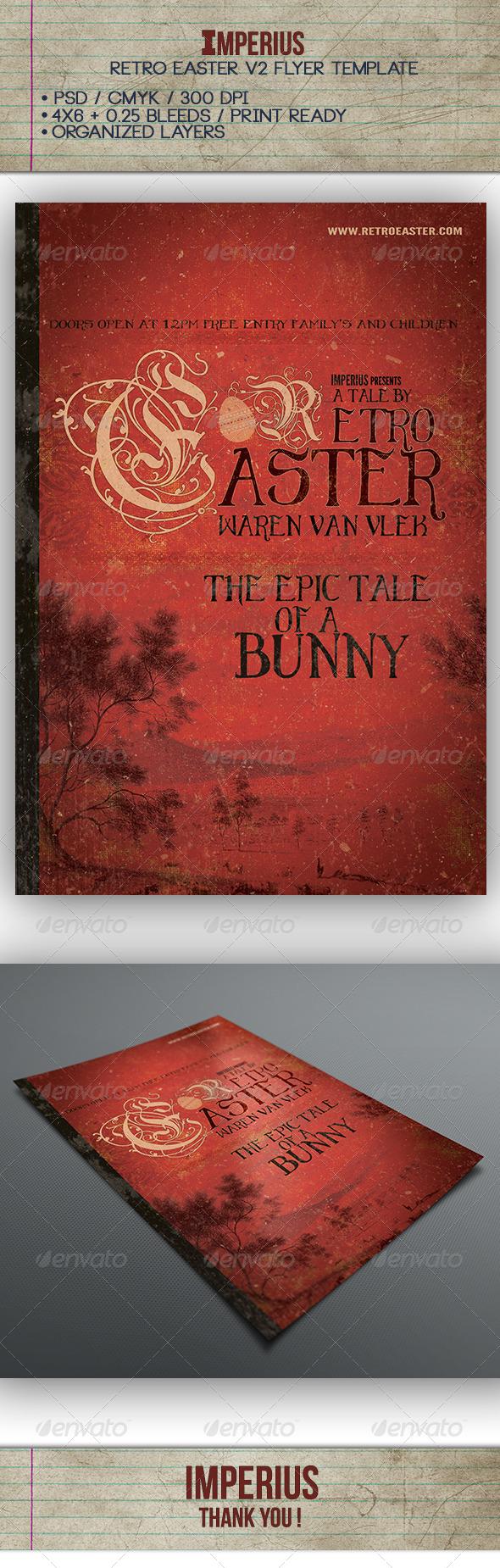 Retro Easter V2 - Flyers Print Templates