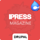 iPress - Responsive News/Magazine Drupal theme Nulled