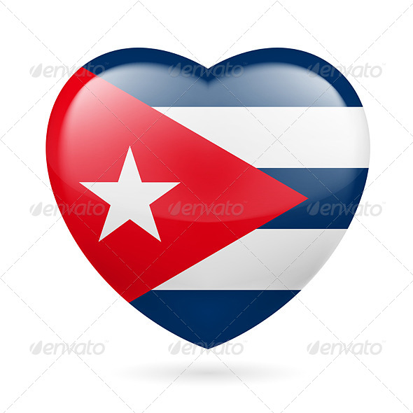 Heart Icon of Cuba - Miscellaneous Vectors