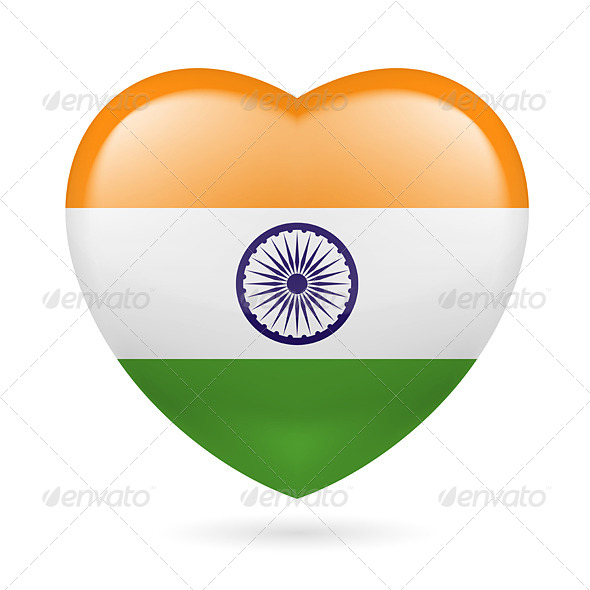 Heart Icon of India - Miscellaneous Vectors