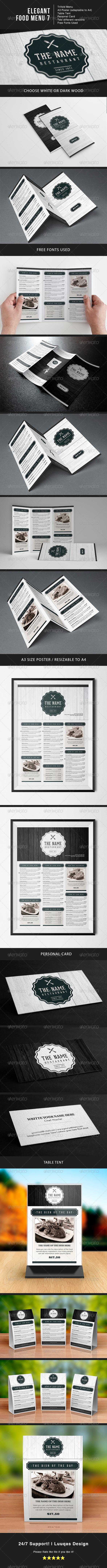 Elegant Food Menu 7 - Food Menus Print Templates