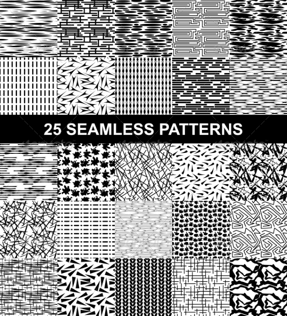 Set of Seamless Patterns - Patterns Decorative