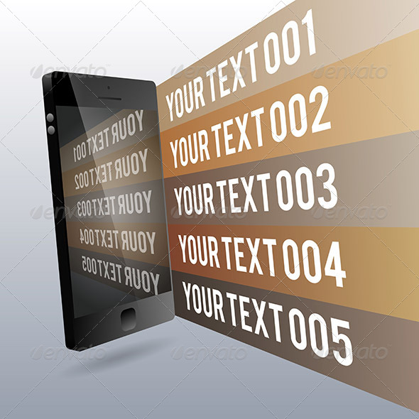 Phone 3D Copyspace Design Elements - Communications Technology
