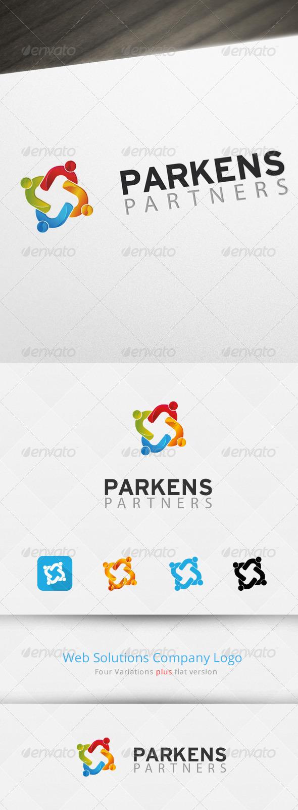 Social Partners Logo Template - Abstract Logo Templates