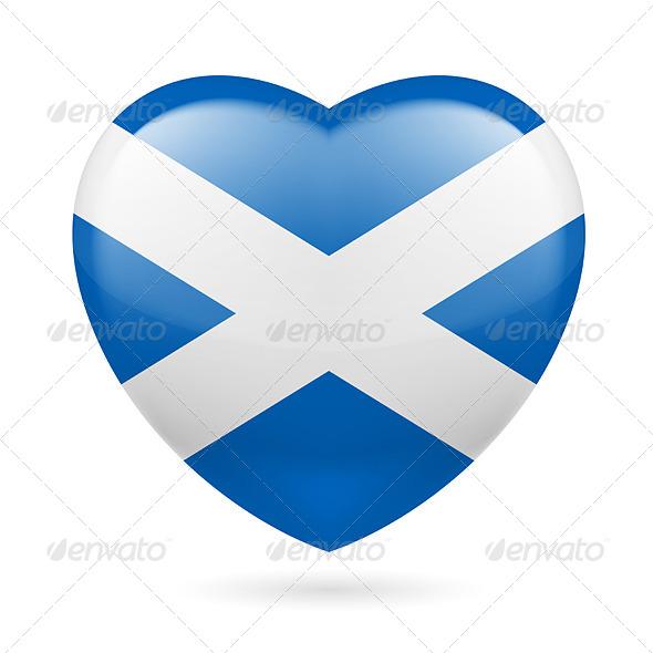 Heart Icon of Scotland - Miscellaneous Vectors