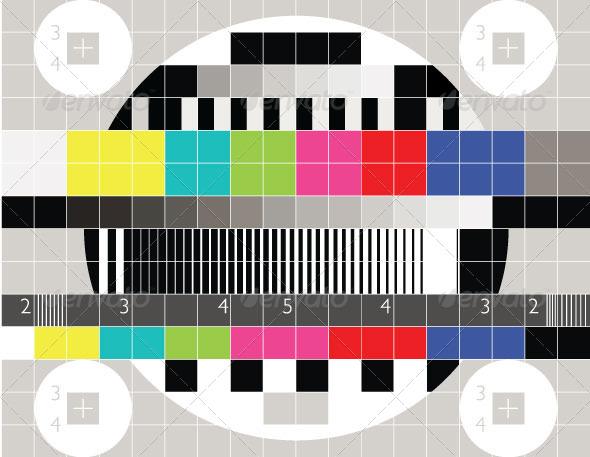 TV Test Pattern - Technology Conceptual