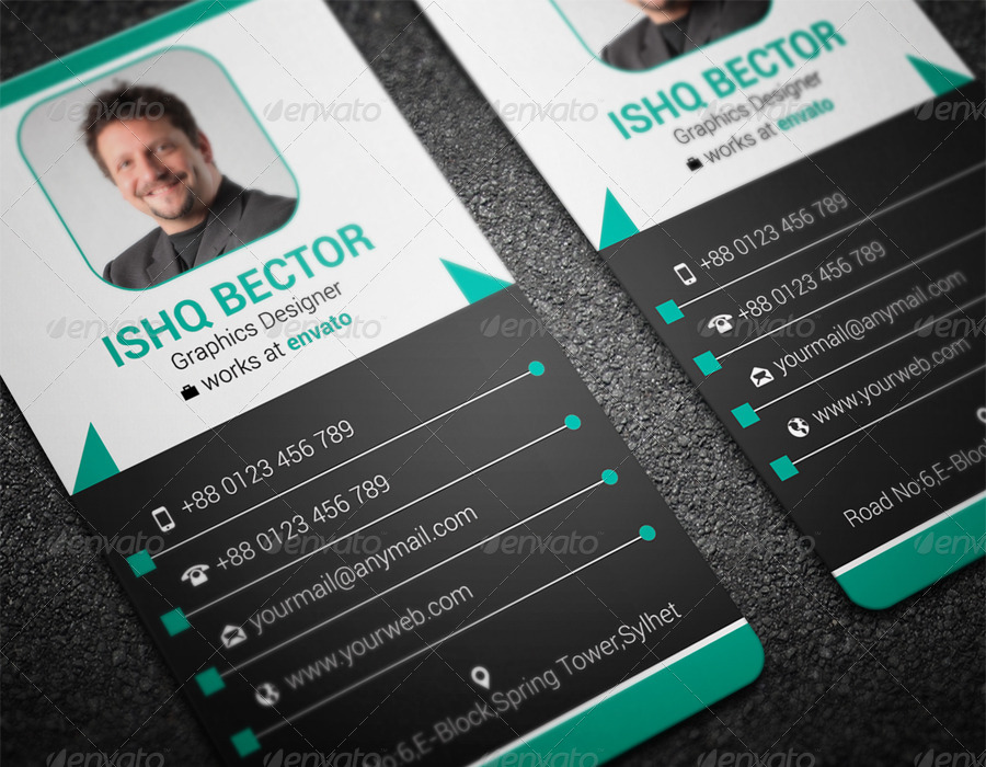 Vertical Professional Business Card-2