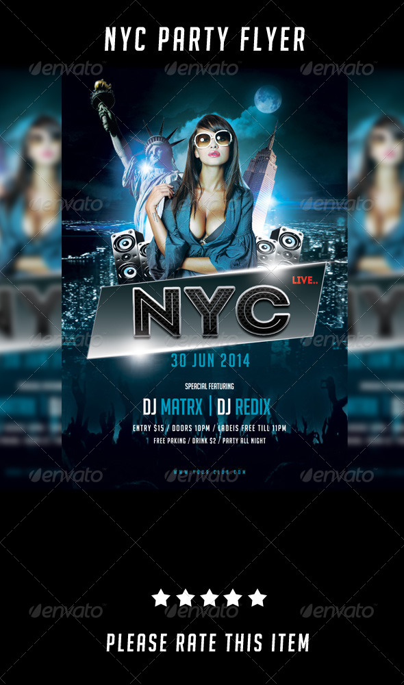New York Party Flyer - Clubs & Parties Events