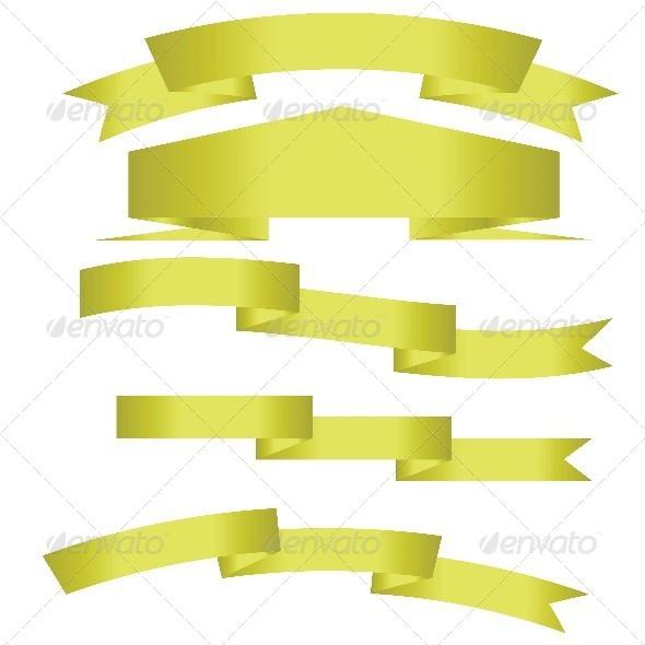 Gold Ribbons - Vectors