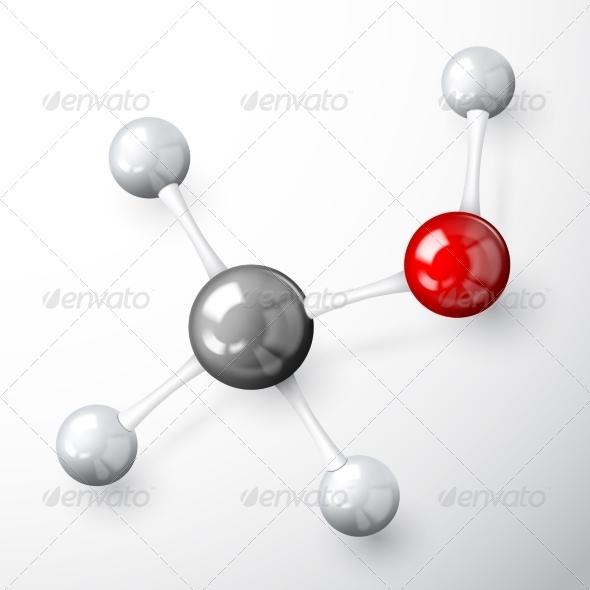 Molecule Model Concept - Decorative Symbols Decorative