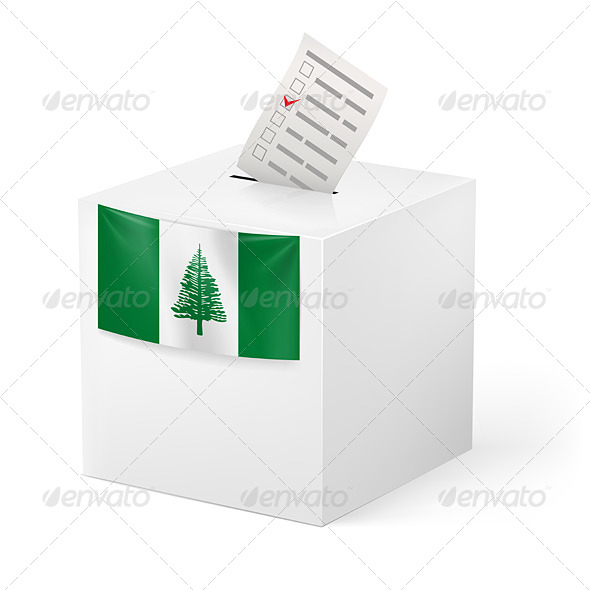 Ballot Box with Voting Paper Norfolk Island - Miscellaneous Vectors
